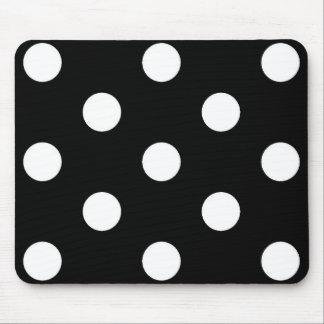 白黒の水玉模様-マウスパッド マウスパッド