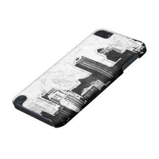 白黒の汚い都市背景 iPod TOUCH 5G ケース