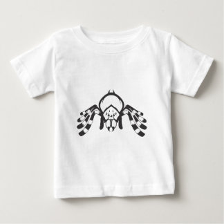 白黒の深刻なタランチュラの昆虫 ベビーTシャツ