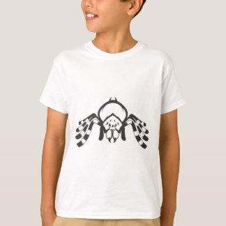 白黒の深刻なタランチュラの昆虫 Tシャツ