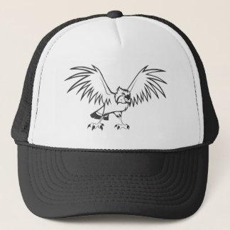白黒の深刻なミサゴの鳥 キャップ