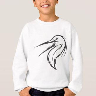 白黒の深刻な素晴らしい青鷲の鳥 スウェットシャツ