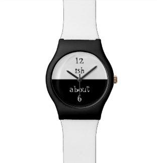 白黒の腕時計を近づけて下さい。 腕時計
