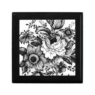 白黒の花の宝石類の装身具の隠匿物のギフト用の箱 ギフトボックス