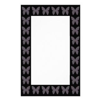 白黒の蝶パターン蝶 便箋
