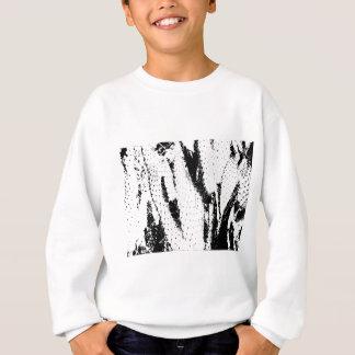白黒の象耳のサボテン スウェットシャツ