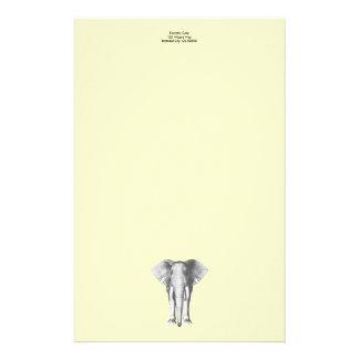 白黒の象 便箋