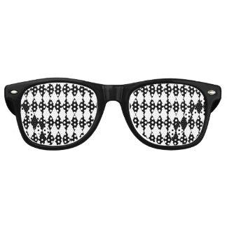 白黒の道化師パターン レトロサングラス