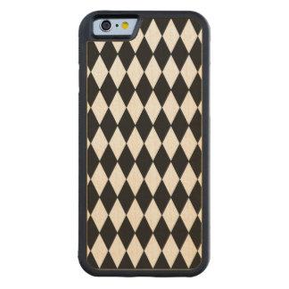 白黒の道化師パターン CarvedメープルiPhone 6バンパーケース