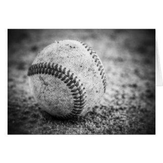 白黒の野球 グリーティングカード