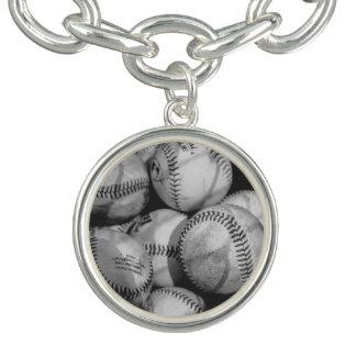 白黒の野球 ブレスレット