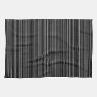 白黒の銀製灰色のストライブ柄の台所タオル キッチンタオル