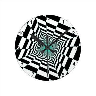 白黒の錯覚 ラウンド壁時計