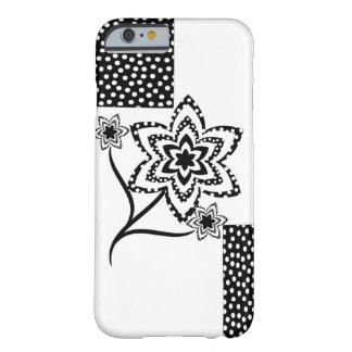 白黒の長方形そして花 BARELY THERE iPhone 6 ケース