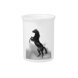 白黒の馬 ピッチャー