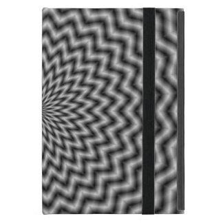 白黒の   iPadの場合の円の波 iPad Mini ケース