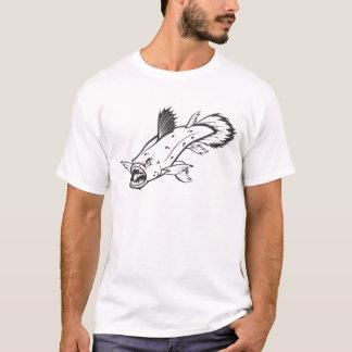 白黒のCoelacanthの野生の魚 Tシャツ