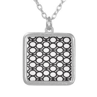 白黒アイレット シルバープレートネックレス
