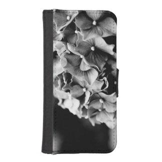 白黒アジサイ、Hortensiaの花 iPhoneSE/5/5sウォレットケース