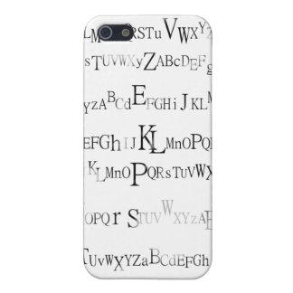 白黒アルファ iPhone 5 ケース
