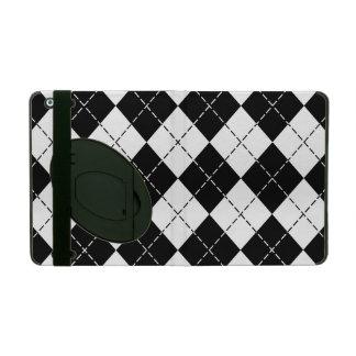 白黒アーガイル柄のなiPadのフォリオの箱 iPad ケース
