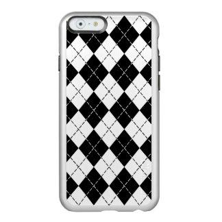 白黒アーガイル柄のなiPhone6ケース Incipio Feather Shine iPhone 6ケース