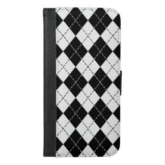 白黒アーガイル iPhone 6/6S PLUS ウォレットケース