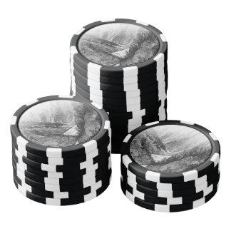 白黒イエローストーン国立公園 ポーカーチップ