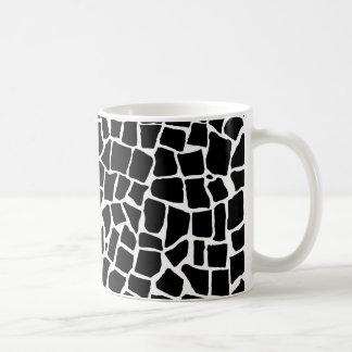 白黒イギリスのモザイク コーヒーマグカップ