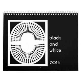 白黒イメージのカレンダー カレンダー