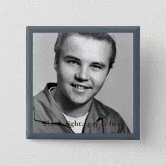 白黒イメージの正方形ボタン、 5.1CM 正方形バッジ