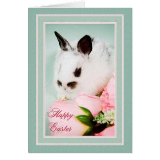 白黒イースターのウサギ カード