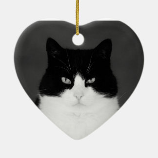 白黒ウーのクリスマスの装飾 セラミックオーナメント