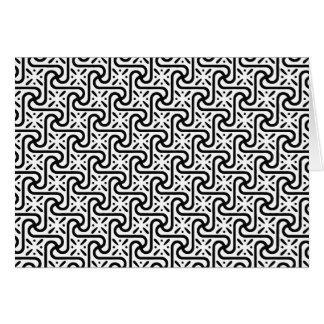 白黒エジプトのタイルパターン カード