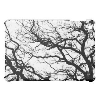 白黒オークの木の景色のiPad Miniケース iPad Miniケース