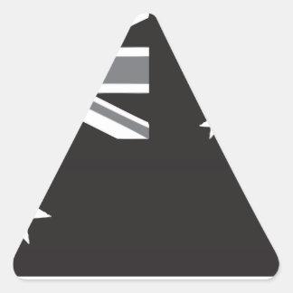 白黒オーストラリアの旗 三角形シール