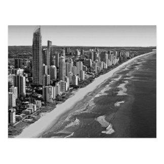 白黒オーストラリアゴールド・コースト ポストカード