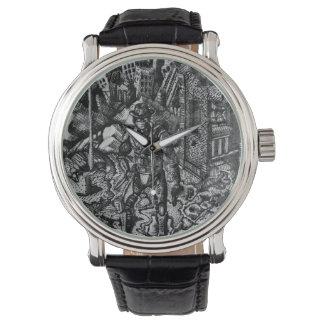 白黒カウボーイの腕時計 腕時計