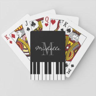 白黒カスタムでモノグラムのなピアノ鍵 トランプ