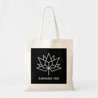 白黒カナダ150の役人のロゴ- トートバッグ