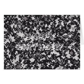 白黒カムフラージュ カード