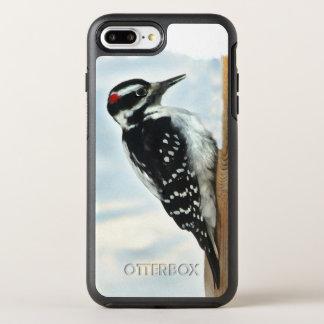 白黒キツツキの鳥動物 オッターボックスシンメトリーiPhone 8 PLUS/7 PLUSケース