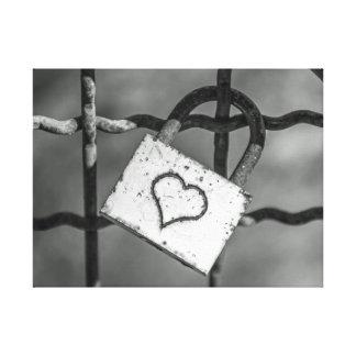 白黒キャンバスのプリントの愛ロック キャンバスプリント