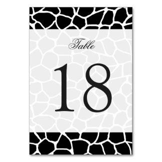 白黒キリンのプリント動物パターン カード
