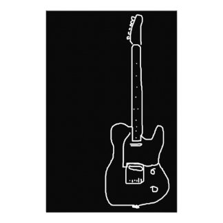 白黒ギター 便箋