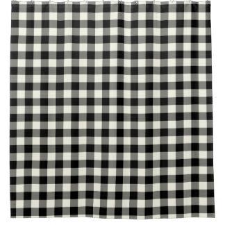 白黒ギンガムのシャワー・カーテン シャワーカーテン