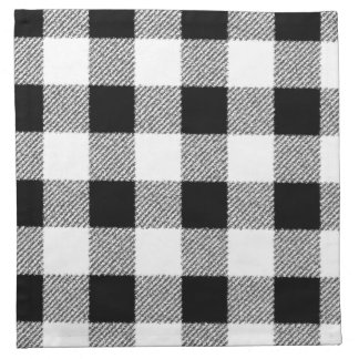 白黒ギンガムの点検パターン ナプキンクロス