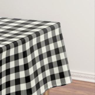 白黒ギンガムの綿のテーブルクロス テーブルクロス