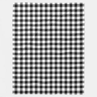 白黒ギンガムはモダンな正方形を点検します フリースブランケット