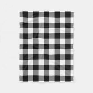 白黒ギンガムパターンフリースブランケット フリースブランケット